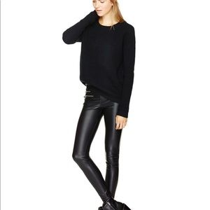 Aritzia Wilfred Faux leather leggings with zippers